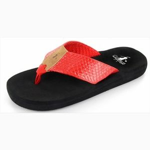 Corkys royal flipflops in red